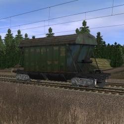 Большой зелёный хоппер для перевозки минеральных удобрений 2
