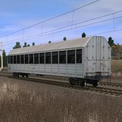 Крытый вагон для перевозки легковых автомобилей