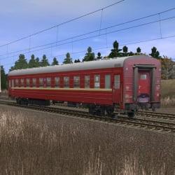 Пассажирский купейный вагон Санкт-Петербург - Москва