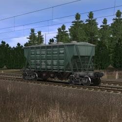 Зелёный хоппер для перевозки цемента 2