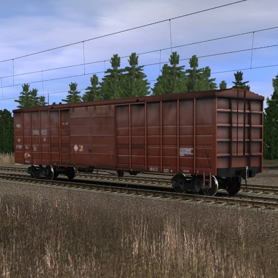 Длинный крытый вагон