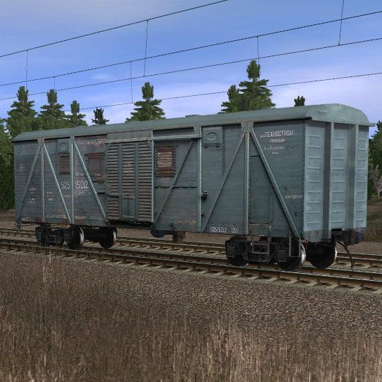 Крытый вагон теплушка