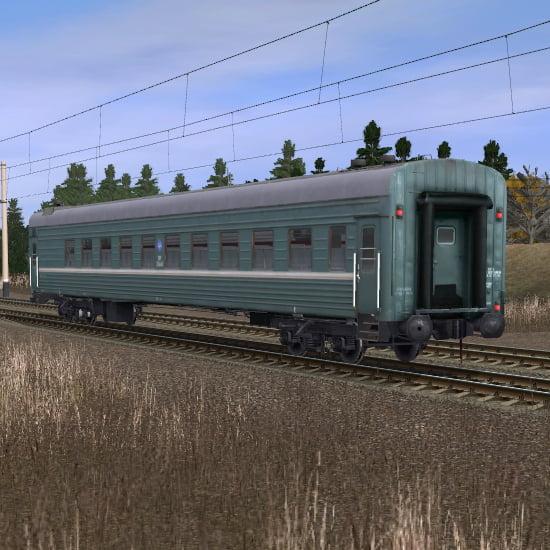 Пассажирский плацкартный вагон 4